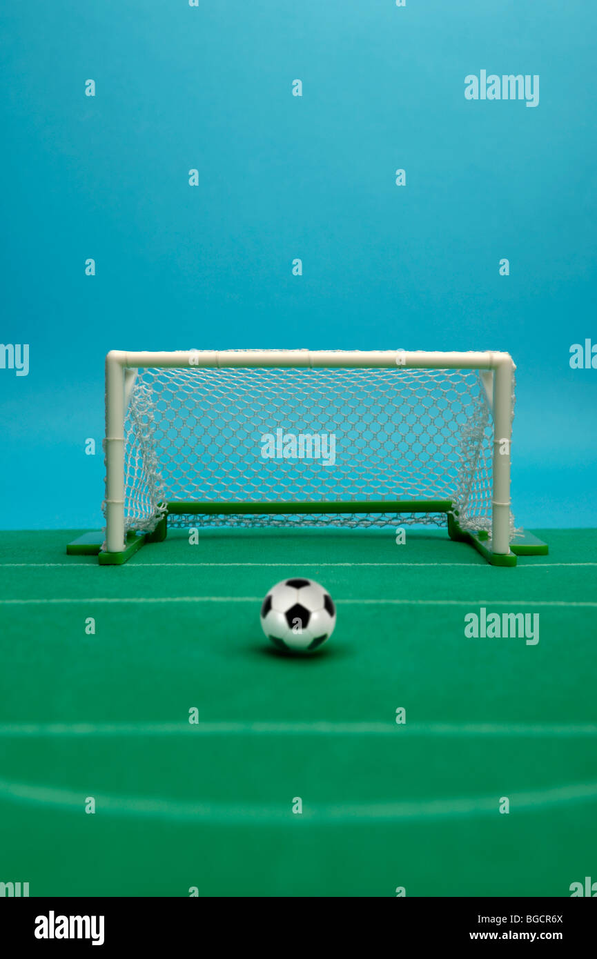Toy football goal - Stock Image