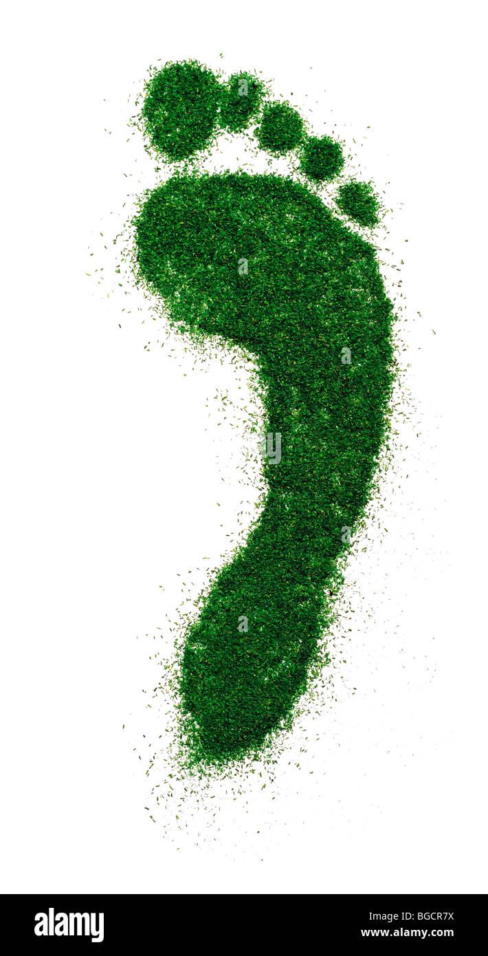 Green footprint - Stock Image