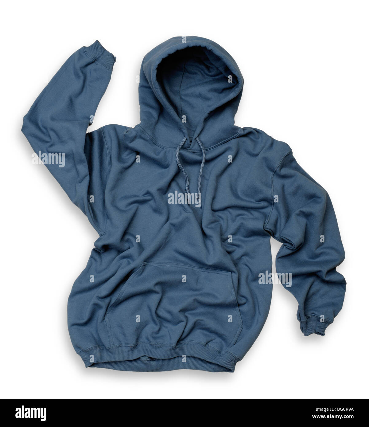 Blue hooded top - Stock Image
