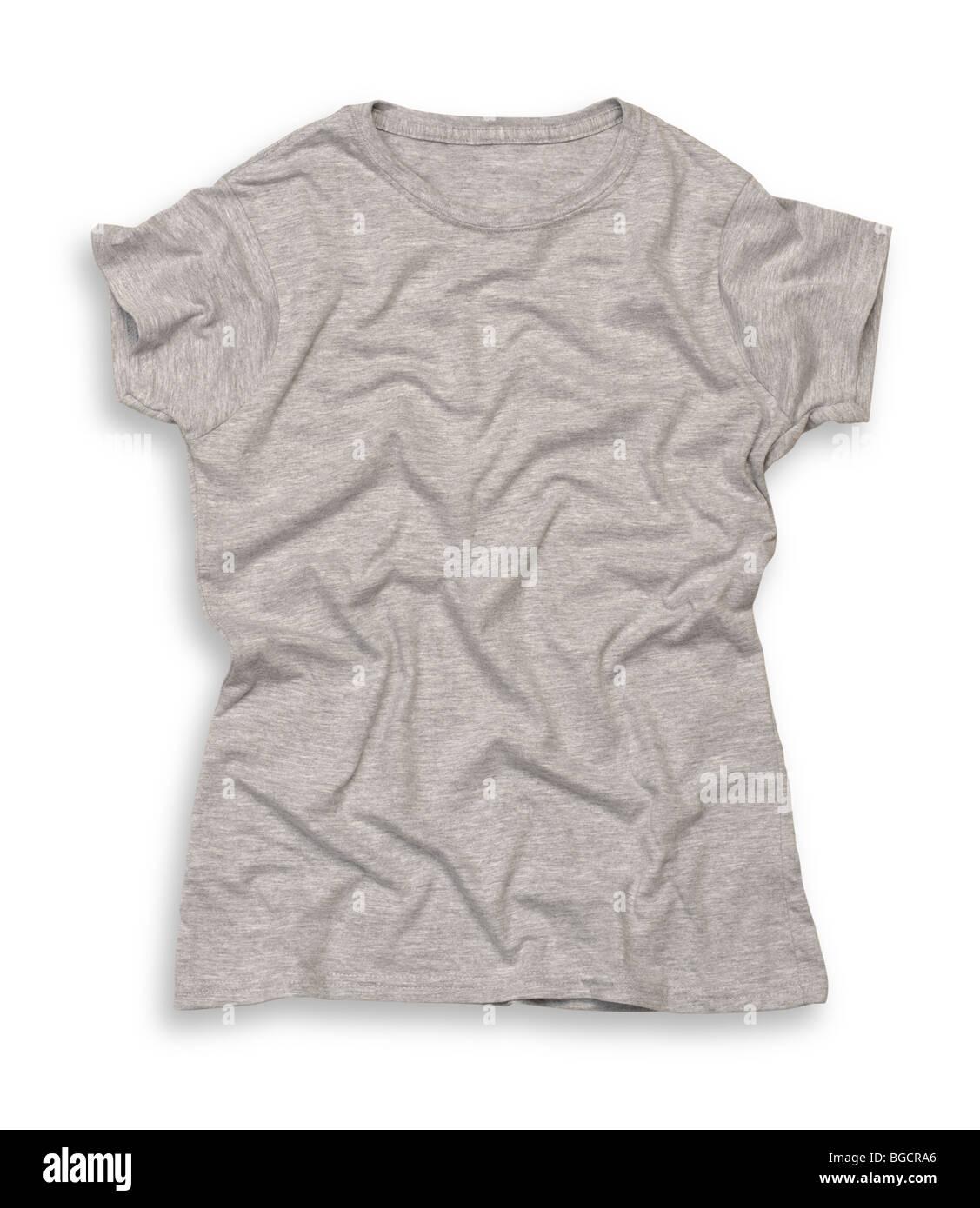 Grey tee shirt - Stock Image