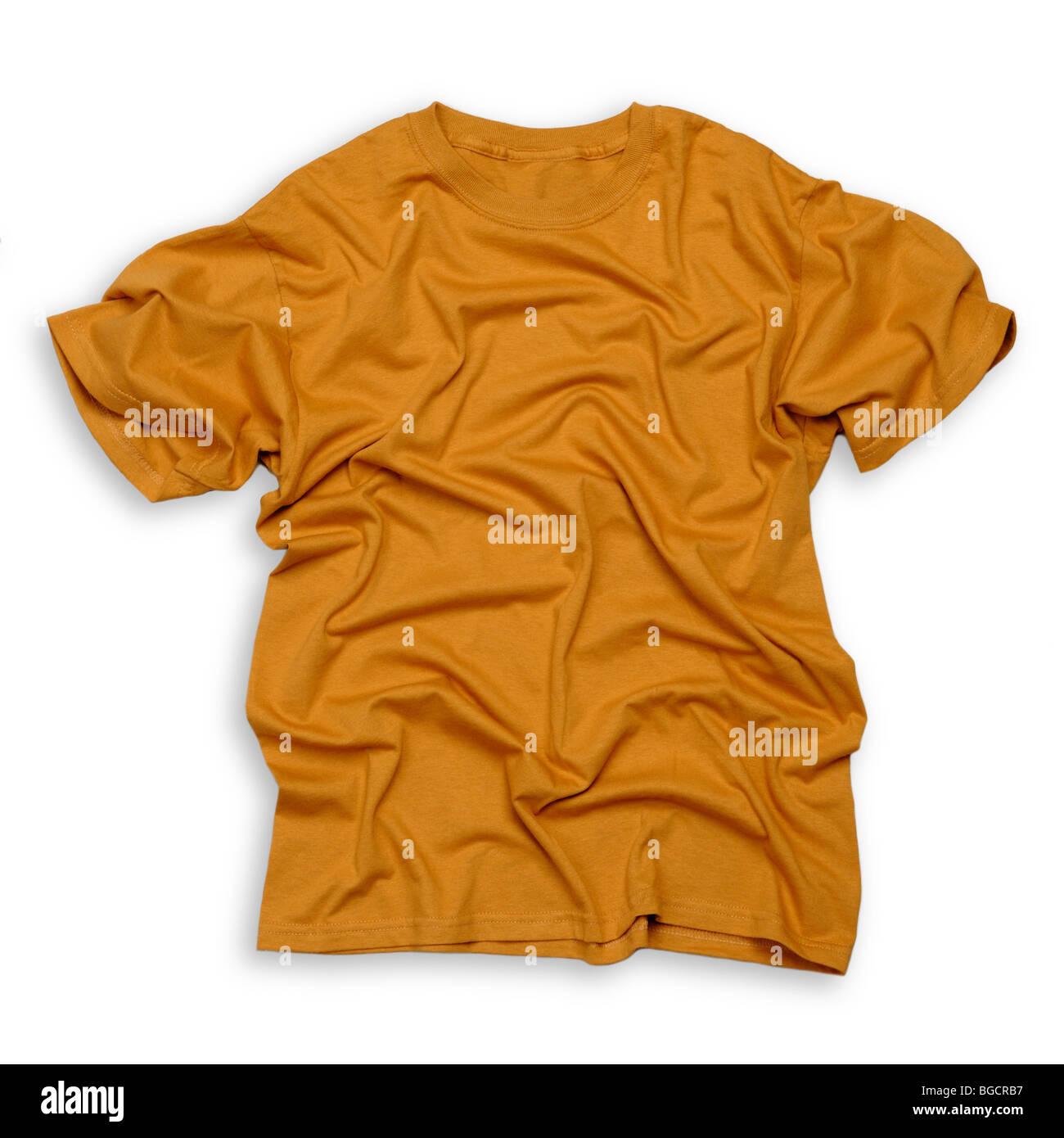 Orange tee shirt - Stock Image