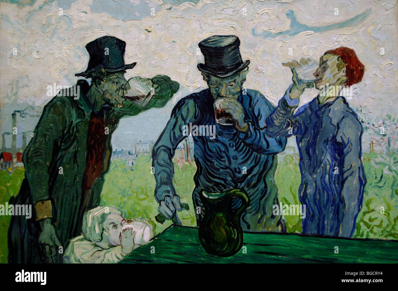 Vincent van Gogh The Drinkers 1890 - Stock Image