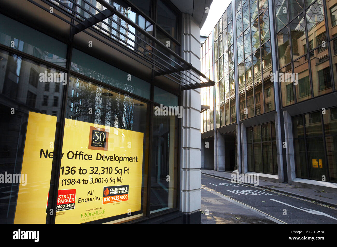 office space letting for rent  to let in financial district downtown central london england uk architecture - Stock Image