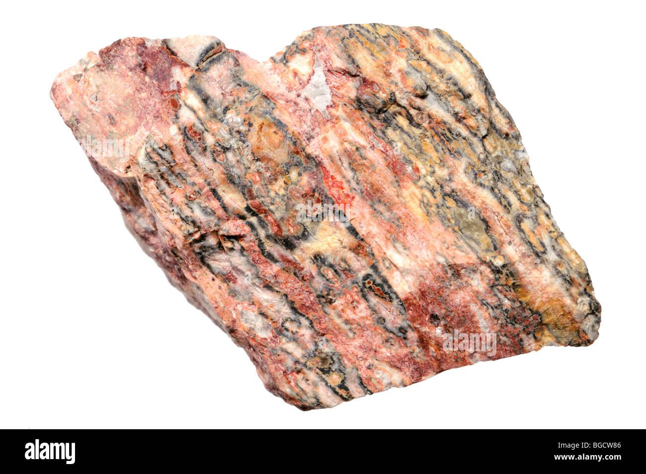 Rhyolite sample (Mexico) - Stock Image