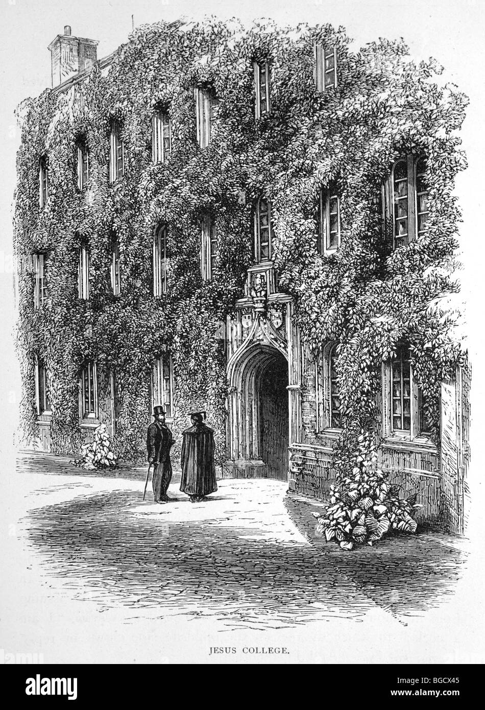 Jesus College, Cambridge –First Court - Stock Image