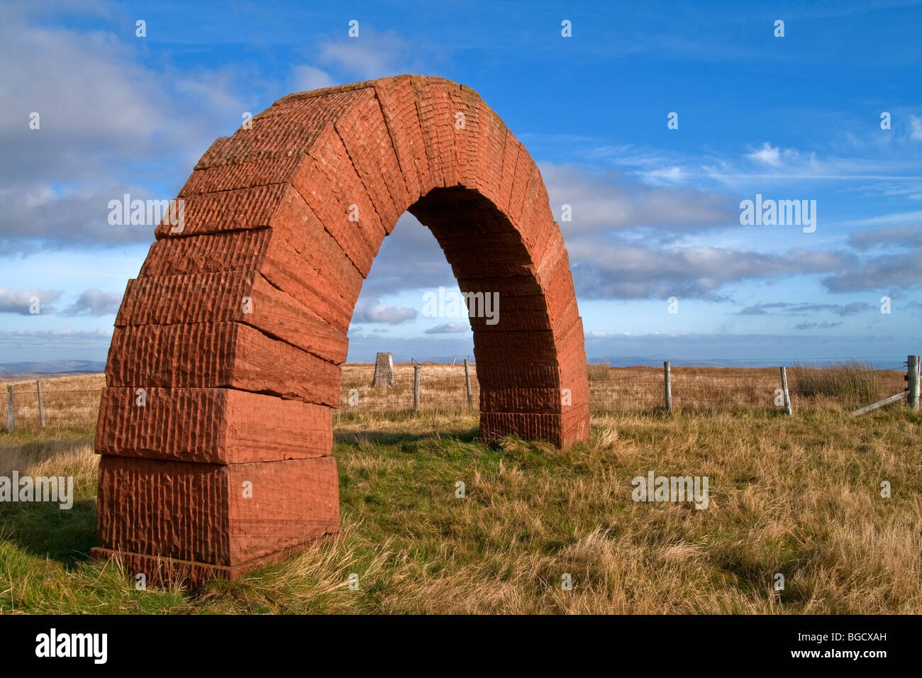 Striding Arches Public Art Project, Cairnhead, Nithsdale (NW of Moniaive), Dumfries and Galloway, Scotland - Stock Image