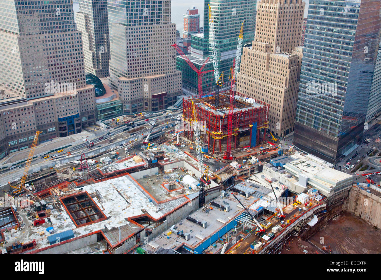 ground zero construction site on 12 14 09 in new york city stock photo 27329363 alamy. Black Bedroom Furniture Sets. Home Design Ideas