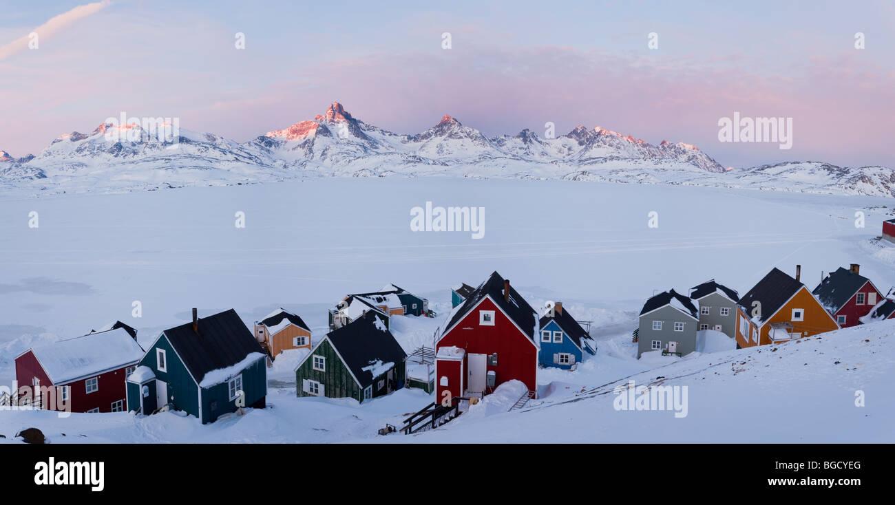 Tasiilaq, Greenland, winter - Stock Image