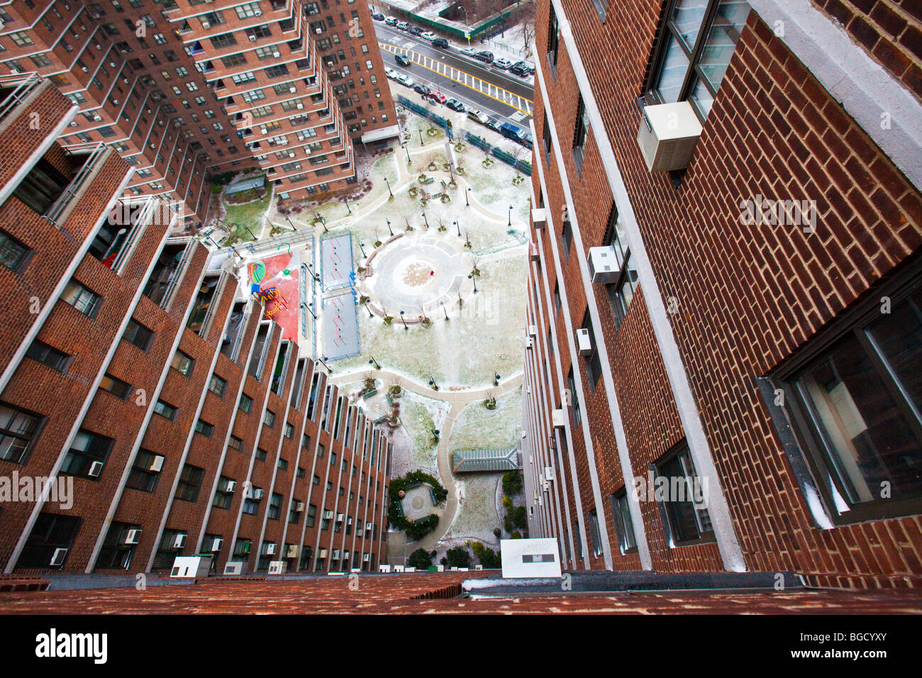 public housing complex on the lower east side of manhattan new york