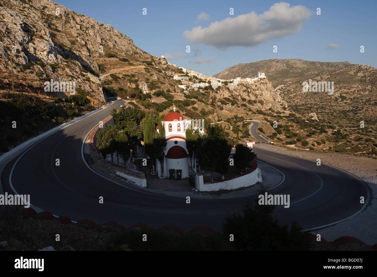 Cemetery of Menetes, Karpathos, Aegean Islands, Aegean Sea, Greece, Europe Stock Photo