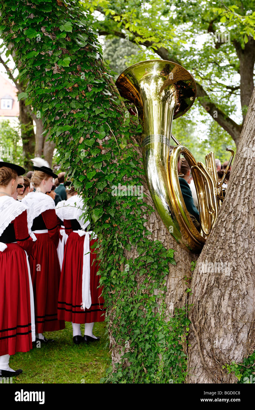 Festival service, 850-year celebration, Bad Heilbrunn, Loisachtal, Upper Bavaria, Germany, Europe - Stock Image