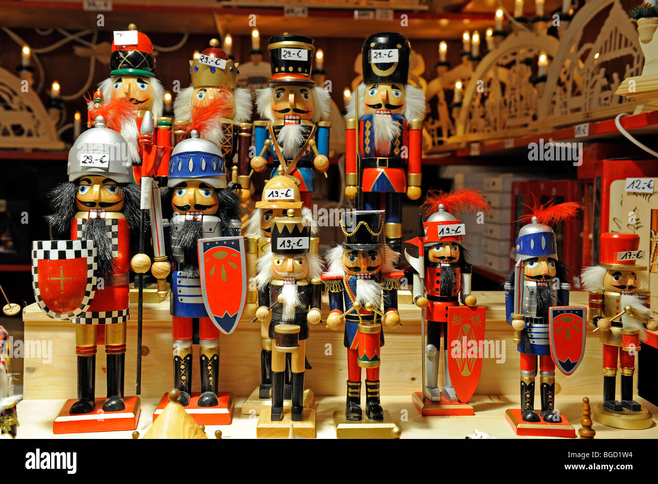Nutcracker, wood craft on a Christmas market in Berlin, Germany, Europe - Stock Image