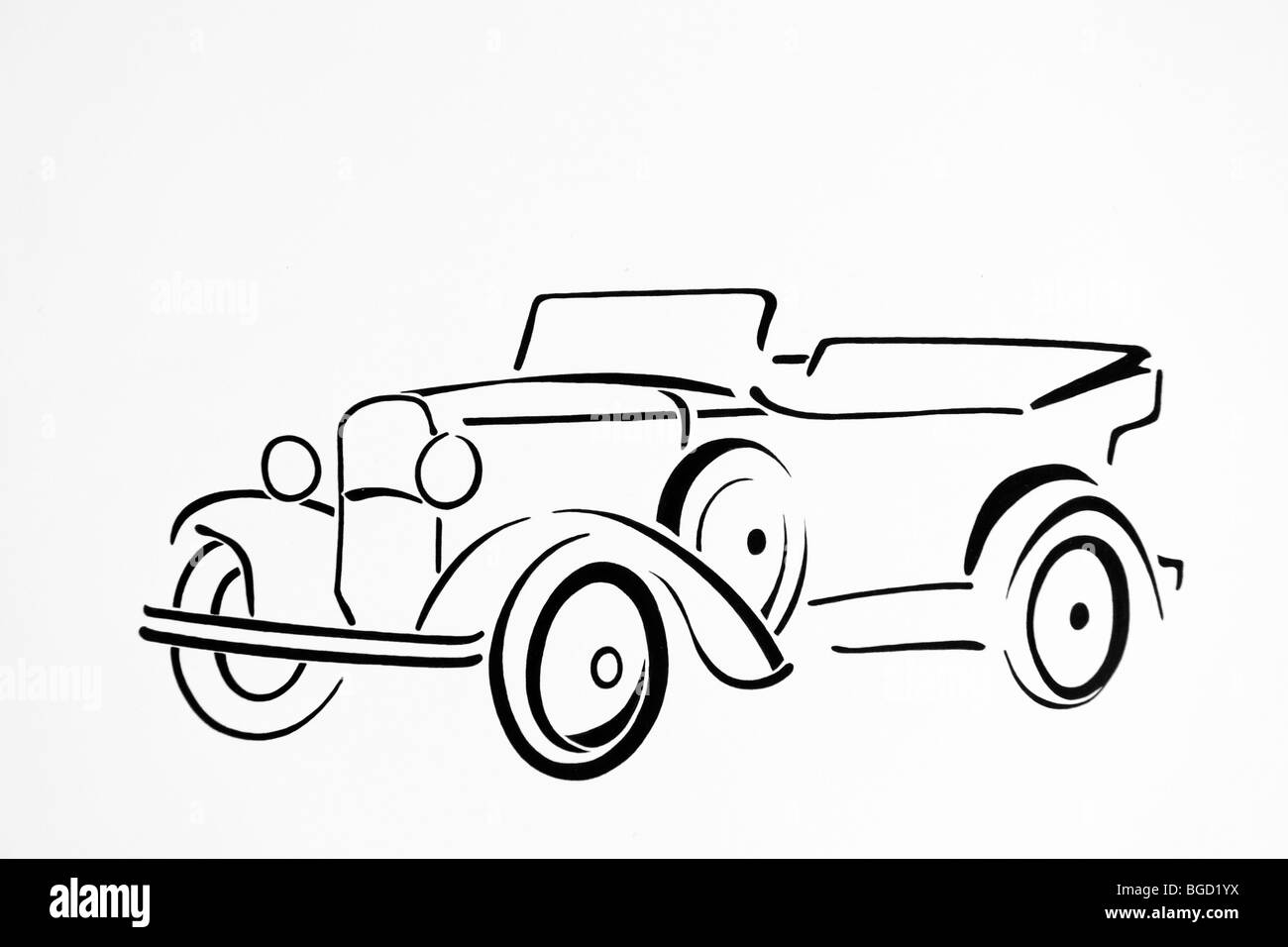 Old Car Black and White Stock Photos & Images - Alamy