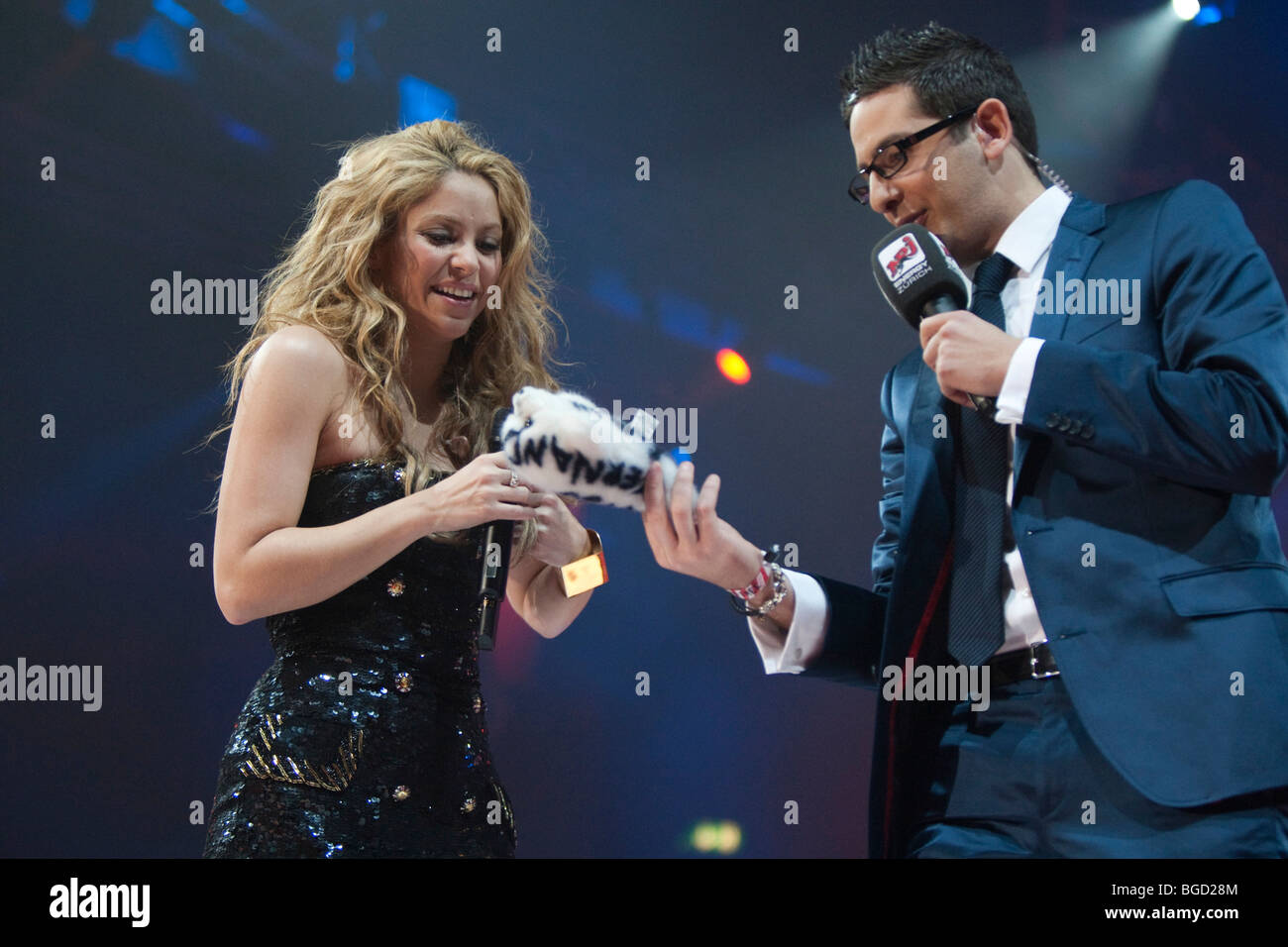 The Colombian singer Shakira live at the Energy Stars For Free event