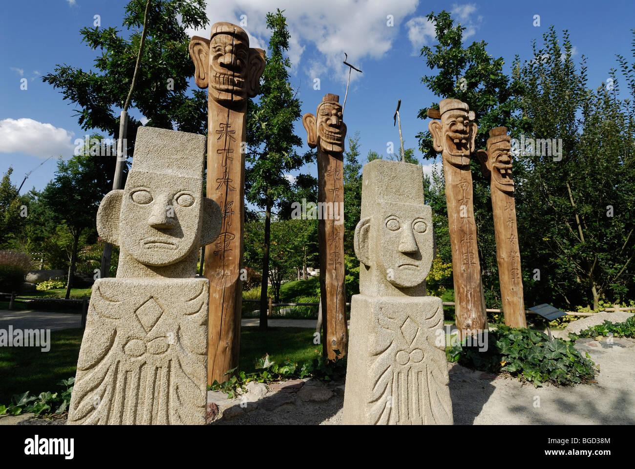 Berlin. Germany. Korean Pavilion at the Gardens of the World (Garten der Welt) Recreation Park in Marzahn. - Stock Image