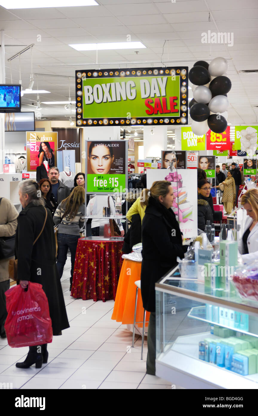 Boxing Day Sale In A Sears Store In A Shopping Mall In Toronto Stock Photo Alamy