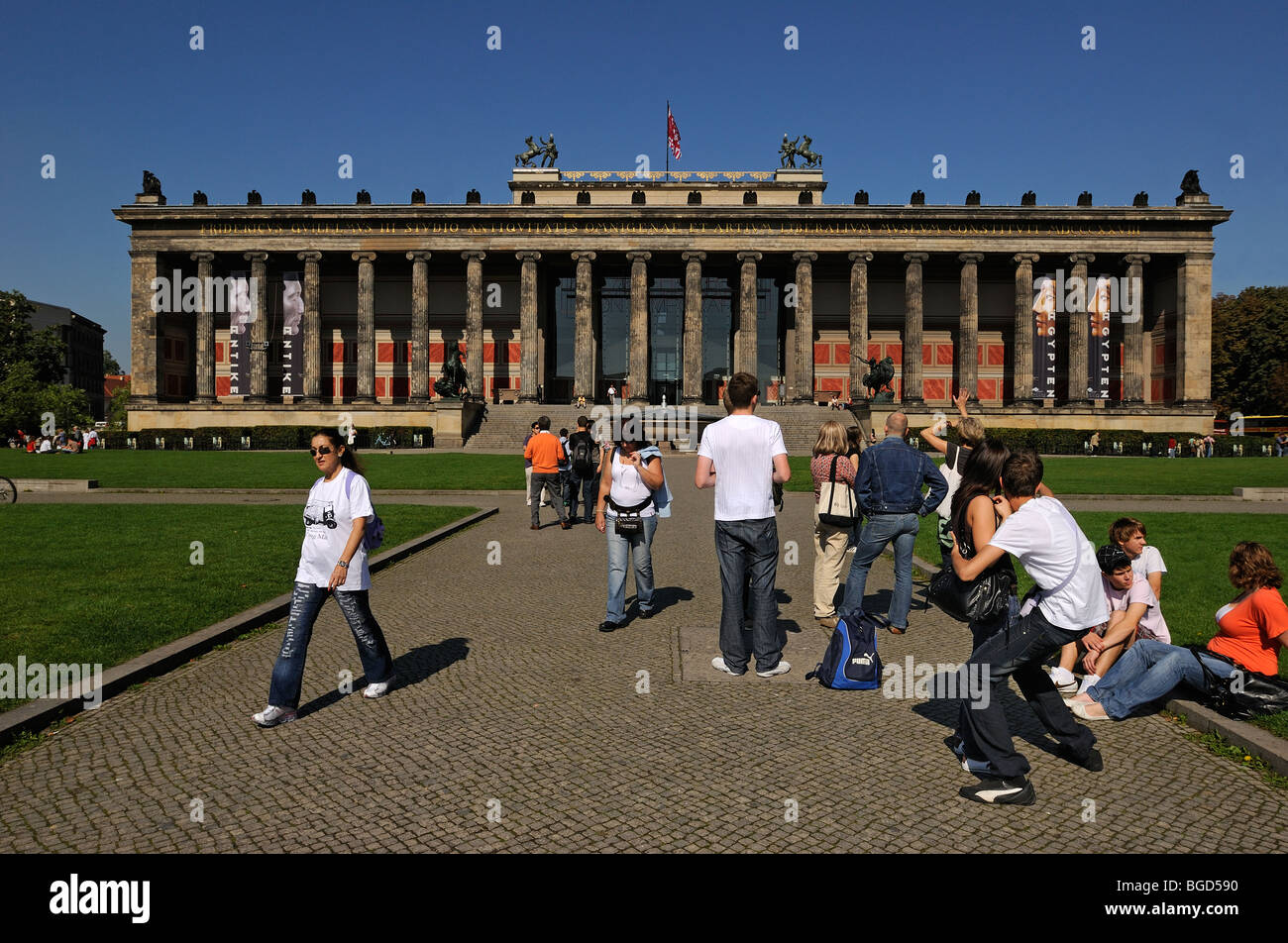Altes Museum, Lustgarten, Unter den Linden, Berlin, Germany, Europe. - Stock Image
