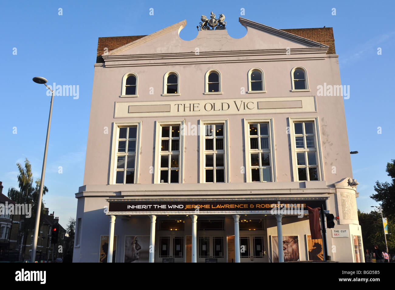 The Old Vic Theatre  The Cut  Waterloo London UK - Stock Image
