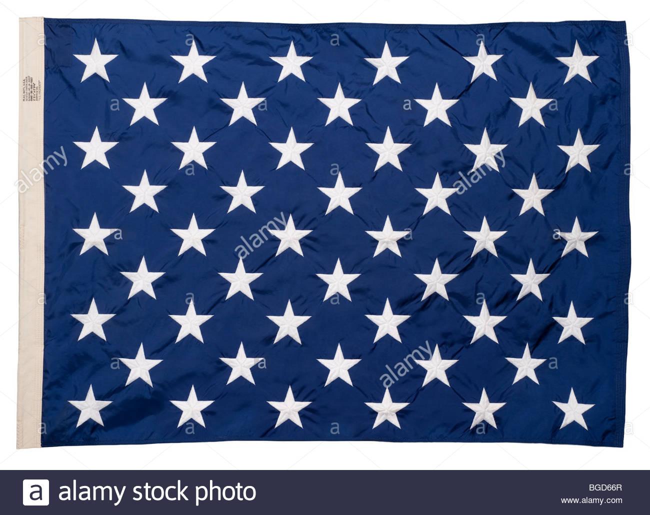 50 Star Union Jack Flag US Navy Genuine US Navy 50 star union jack flag - Stock Image