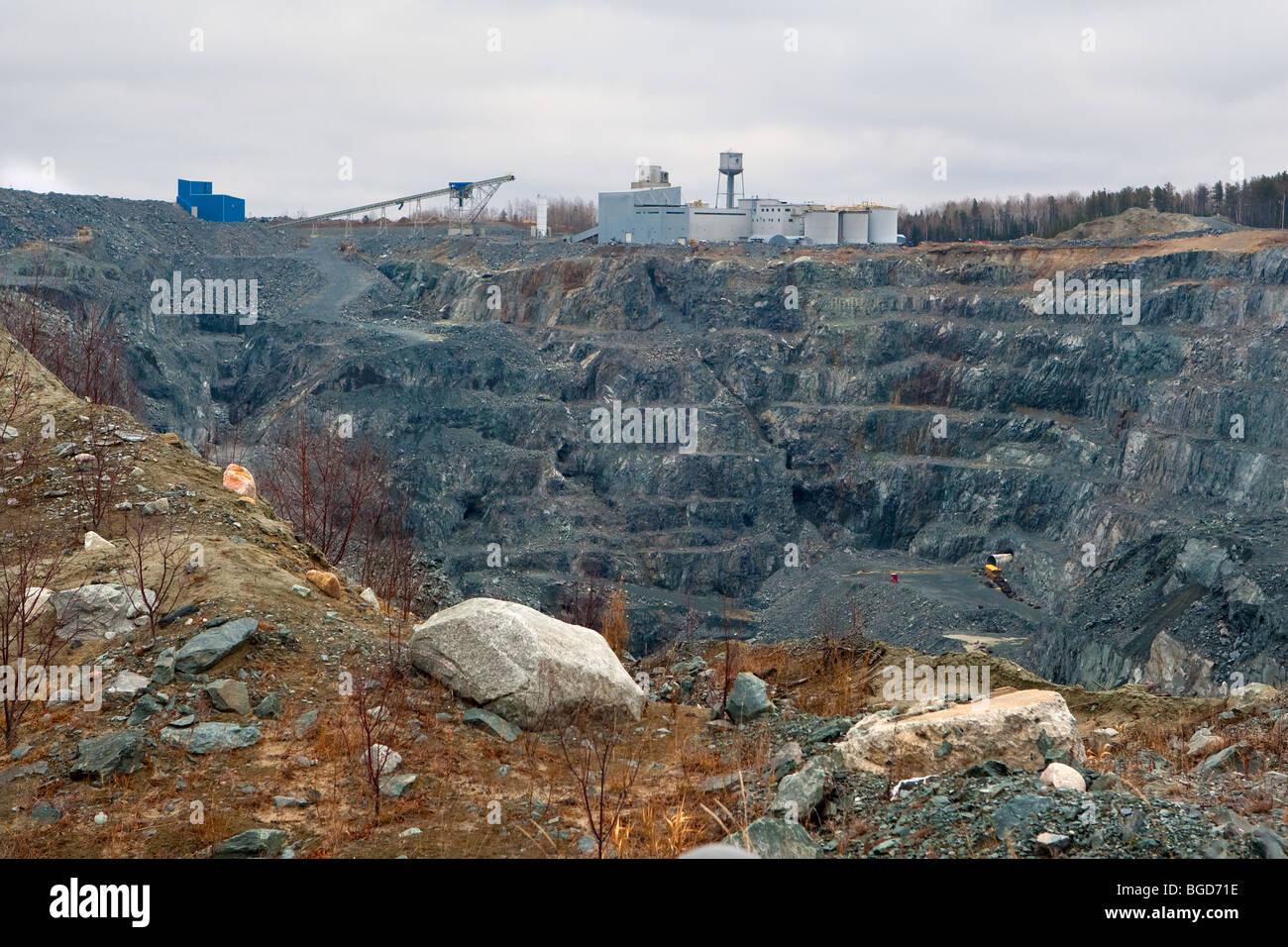 Sigma Gold mine is pictured in Val D'Or in Abitibi, Quebec Stock Photo