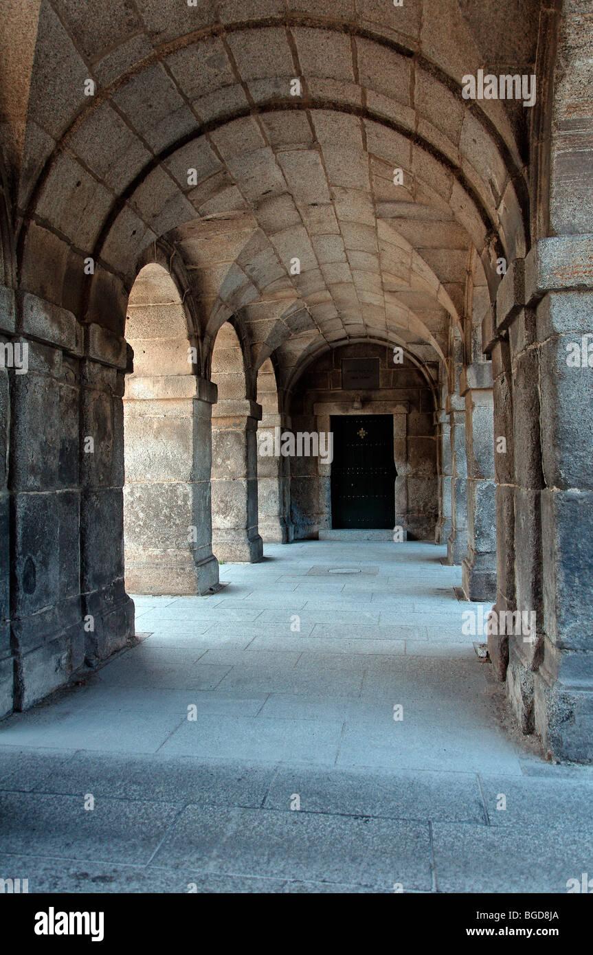 Archway in El Escorial, Madrid (Spain). UNESCO World Heritage Site. Stock Photo