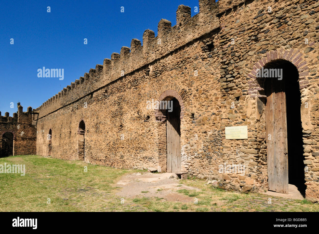 Emperor Bakaffa Banqueting Hall, Royal Enclosure Fasil Ghebbi, UNESCO World Heritage Site, Gonder, Gondar, Amhara, - Stock Image