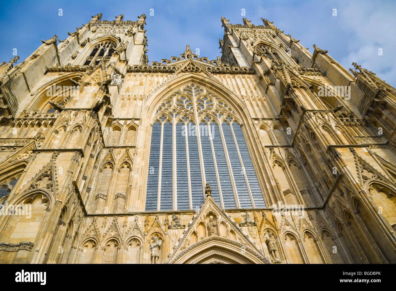 York Minster West Entrance, York, Yorkshire, England, United Kingdom, Europe - Stock Image