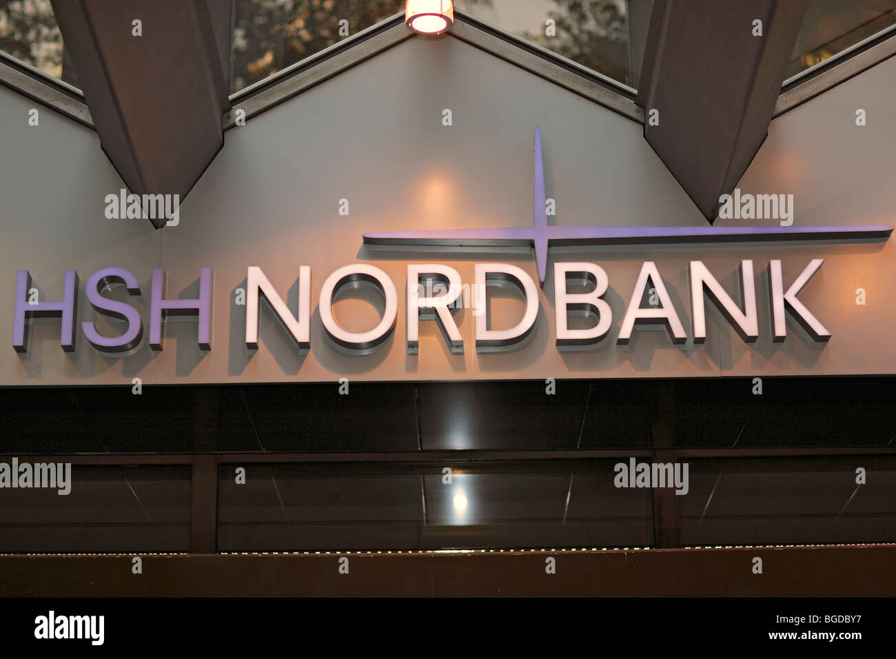 HSH Nordbank, financial crisis 2009, branch in Hamburg, Germany, Europe - Stock Image