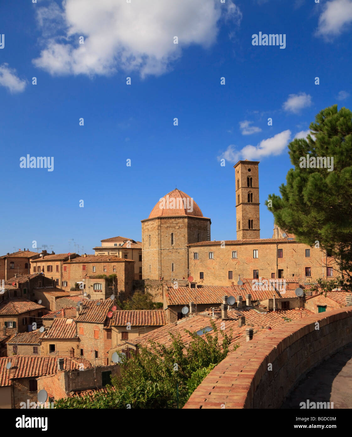 The Cathedral of Santa Maria Aussunta in Volterra Tuscany, Italy - Stock Image