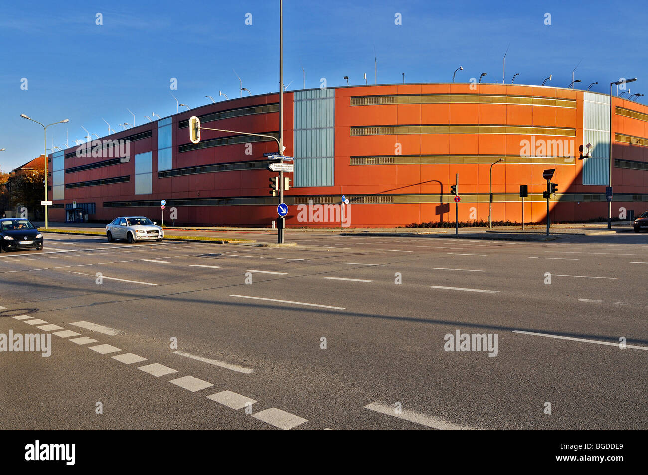New women's prison, Stadelheimerstrasse, Munich, Bavaria, Germany, Europe - Stock Image