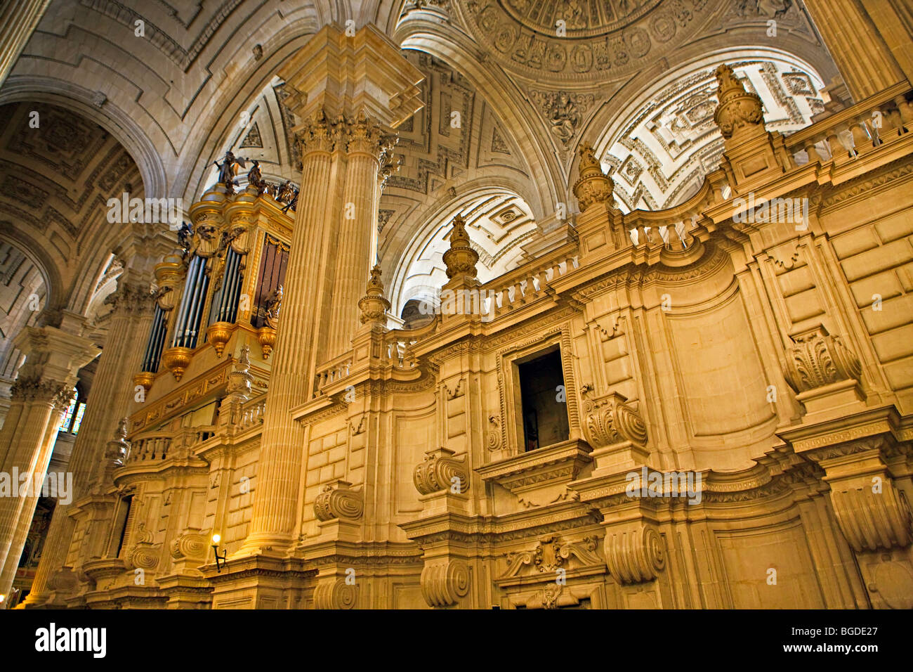 Interior of the Cathedral of Jaen, Sagrario District, City of Jaen, Province of Jaen, Andalusia (Andalucia), Spain, - Stock Image