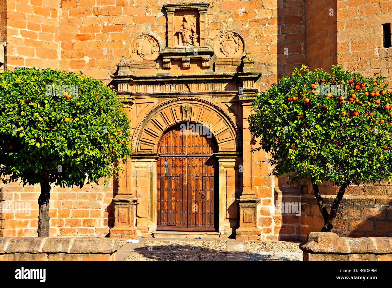 Iglesia de San Mateo in Plaza de la Constitucion, town of Banos de la Encina, Province of Jaen, Andalusia (Andalucia), - Stock Image