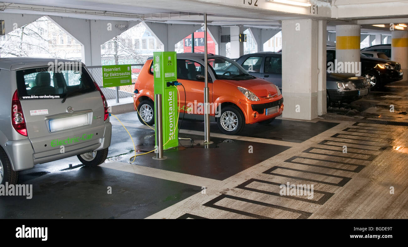 Charging Station For Electrical Cars Of A Rental Car Company