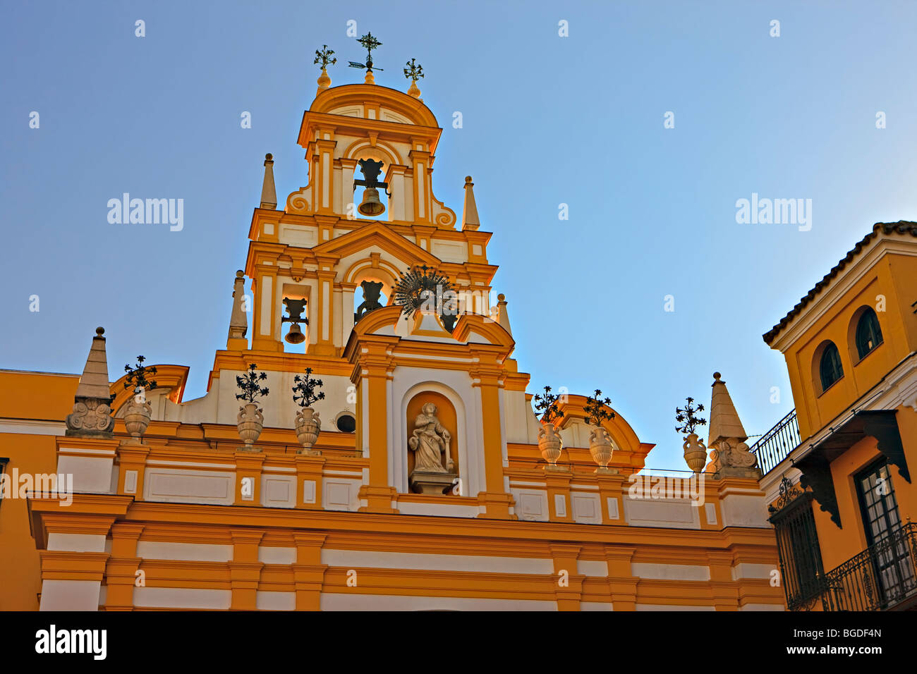 Basilica de la Macarena in the Macarena district, City of Sevilla (Seville), Province of Sevilla, Andalusia (Andalucia), - Stock Image