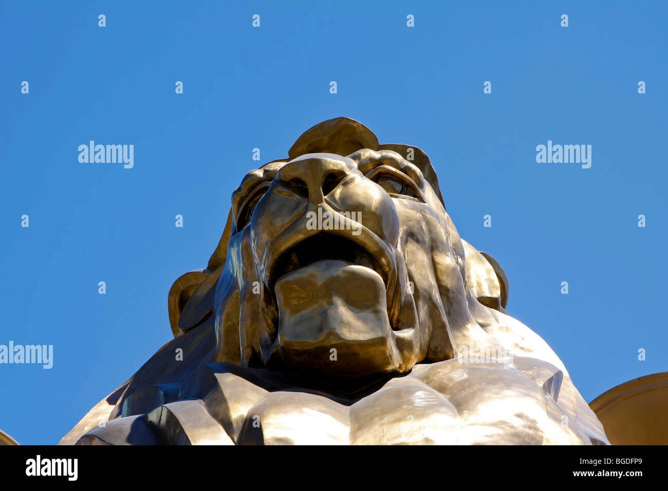 Lion of the MGM Grand hotel in Las Vegas, Nevada, USA - Stock Image