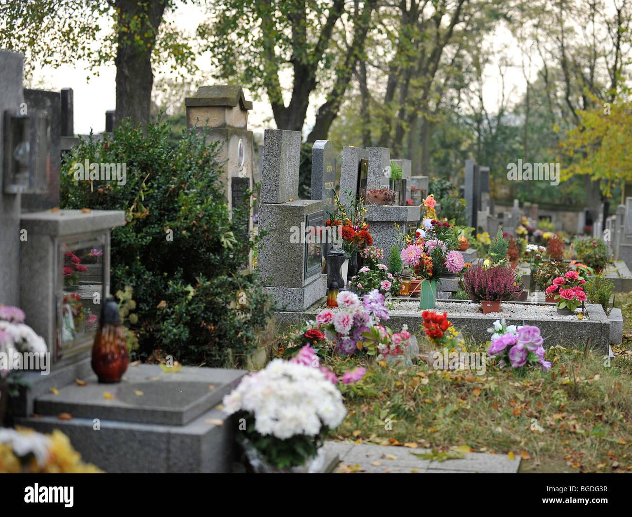 graveyard in czech republic Stock Photo