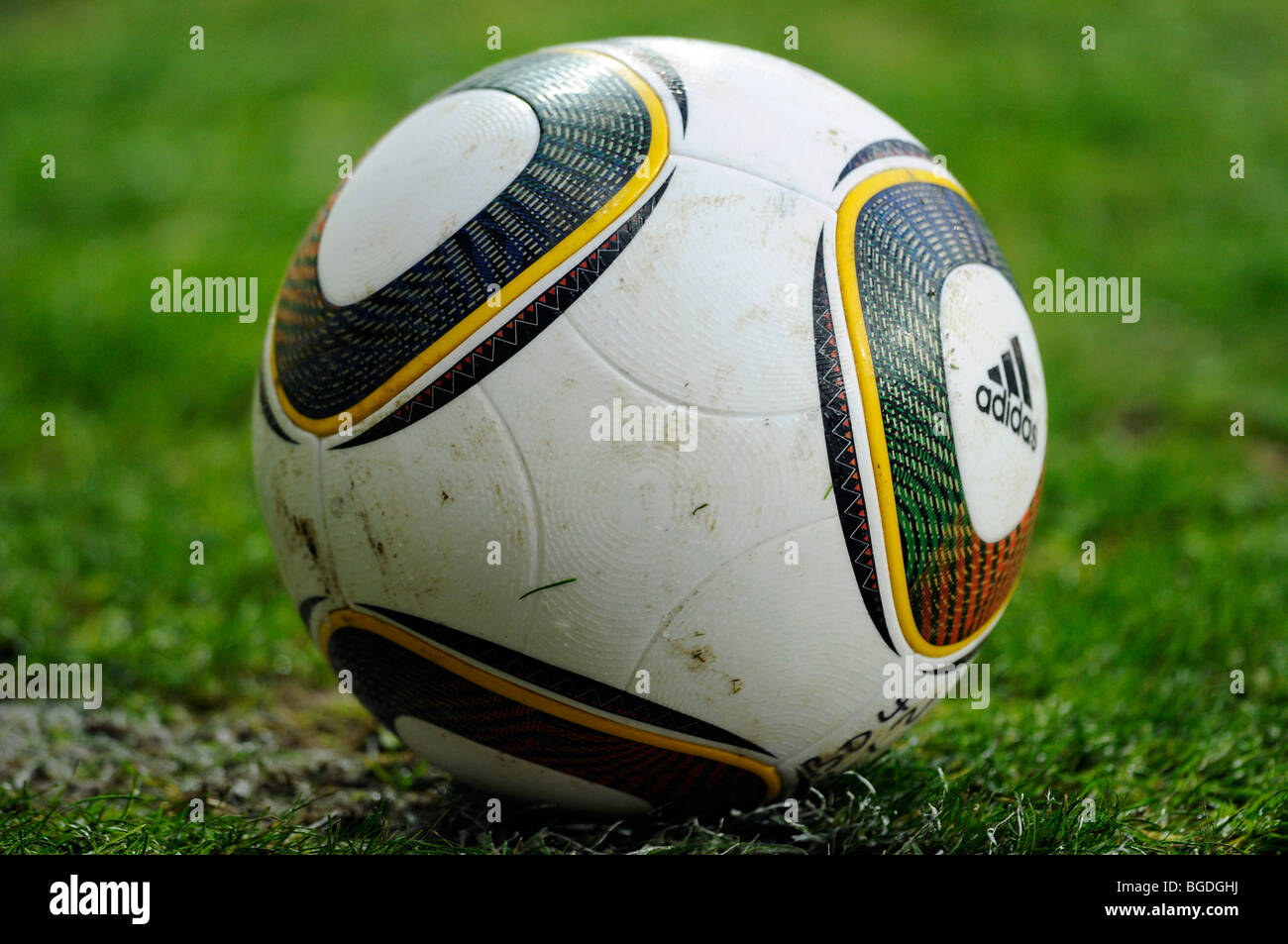 'Jabulani', official matchball of the FIFA World Cup 2010 in South Africa - Stock Image