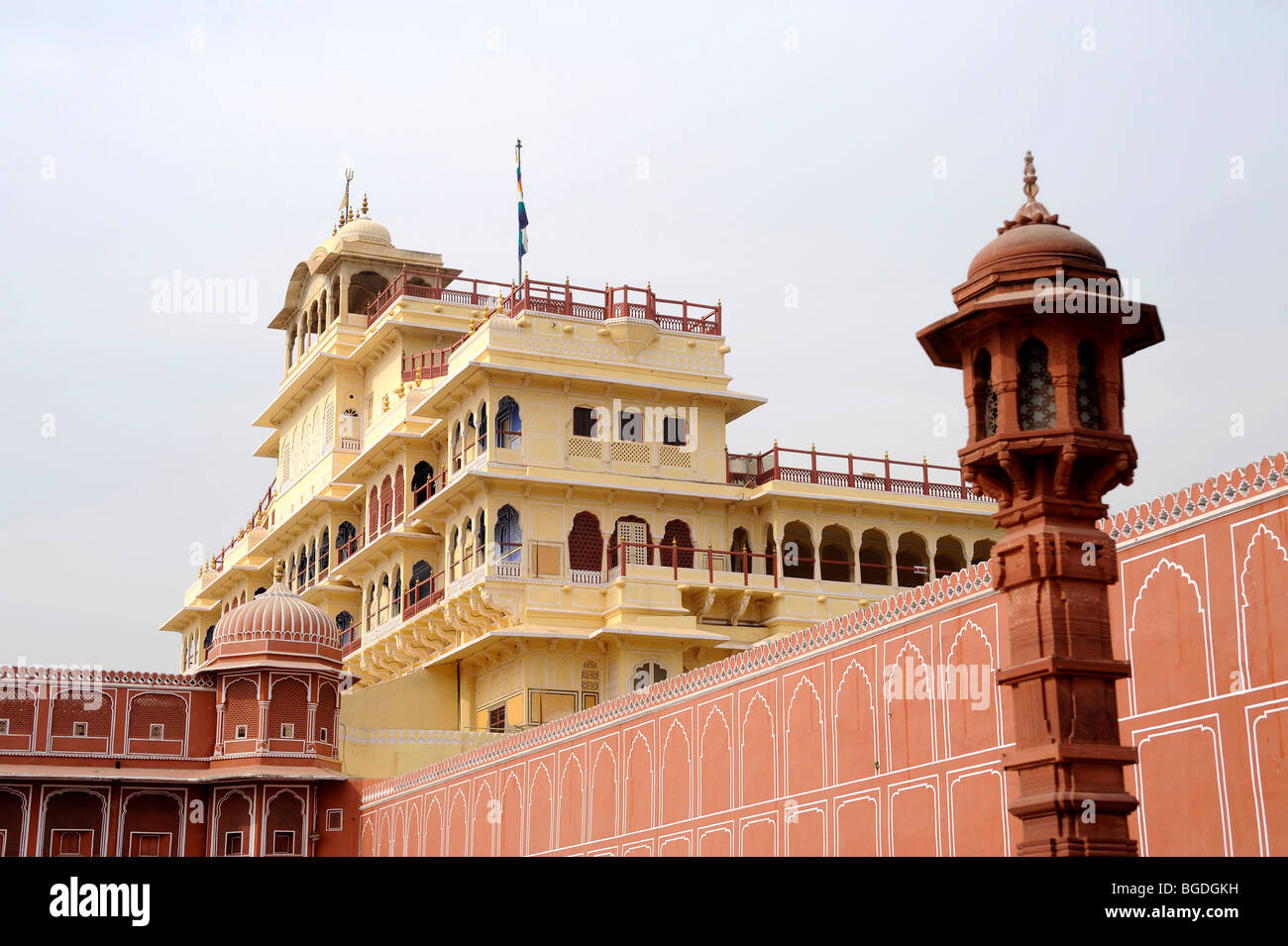 Chandra Mahal, City Palace, Jaipur, Rajasthan, North India, India, South Asia, Asia Stock Photo