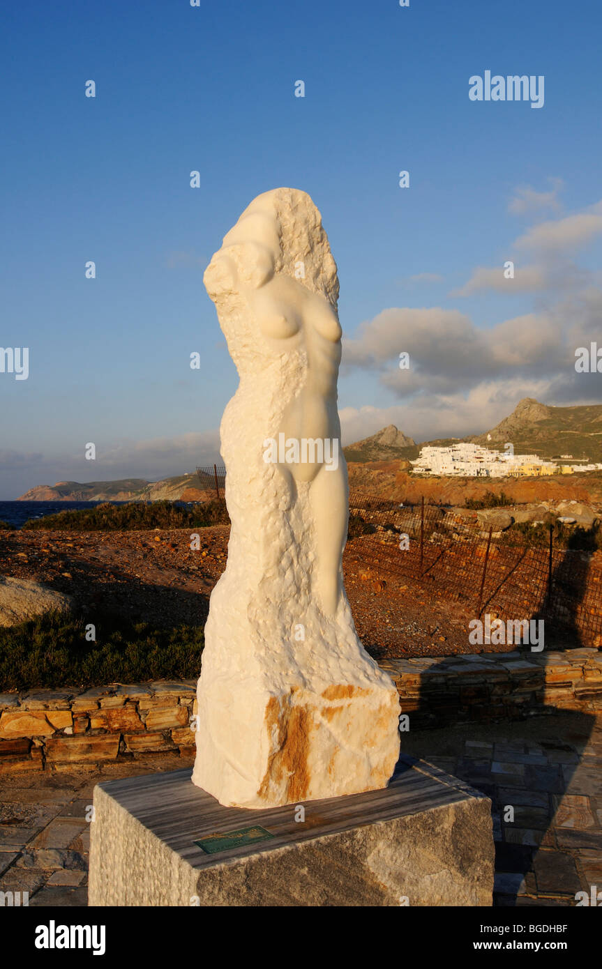 Statue, Naxos, Cyclades, Greece, Europe - Stock Image