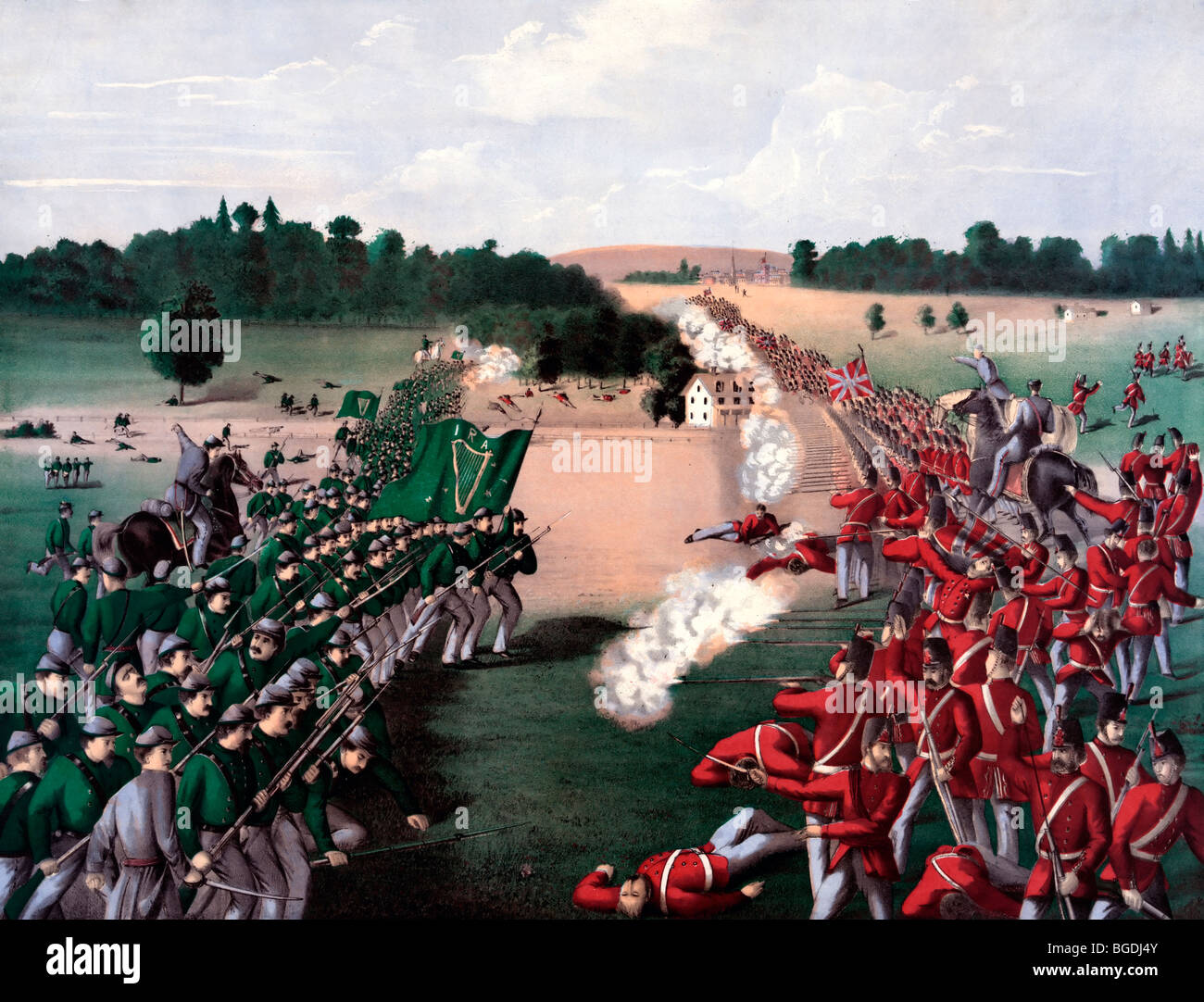 Battle of Ridgeway, June 2, 1866, near Ontario, Canada - Stock Image