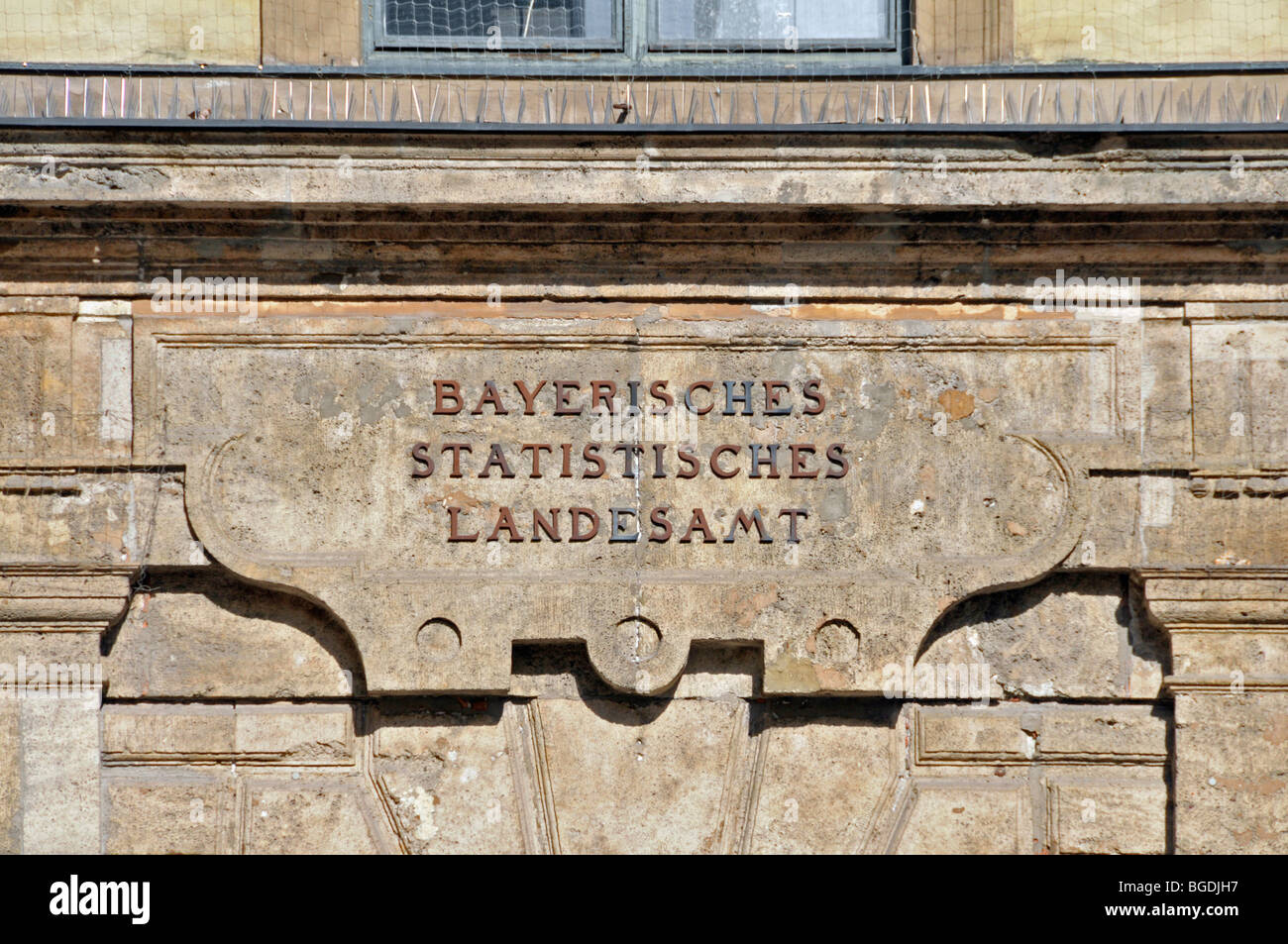Bavarian Office for Statistics and Data Processing, Munich, Bavaria, Germany, Europe - Stock Image