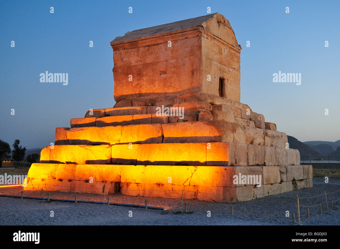 Tomb of Cyrus II., archeological site of Pasargadae, UNESCO World Heritage Site, Persia, Iran, Asia - Stock Image