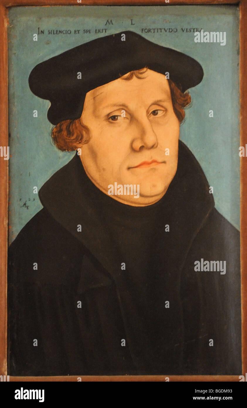Portait of Martin Luther by Lucas Kranach senior Poldi ...
