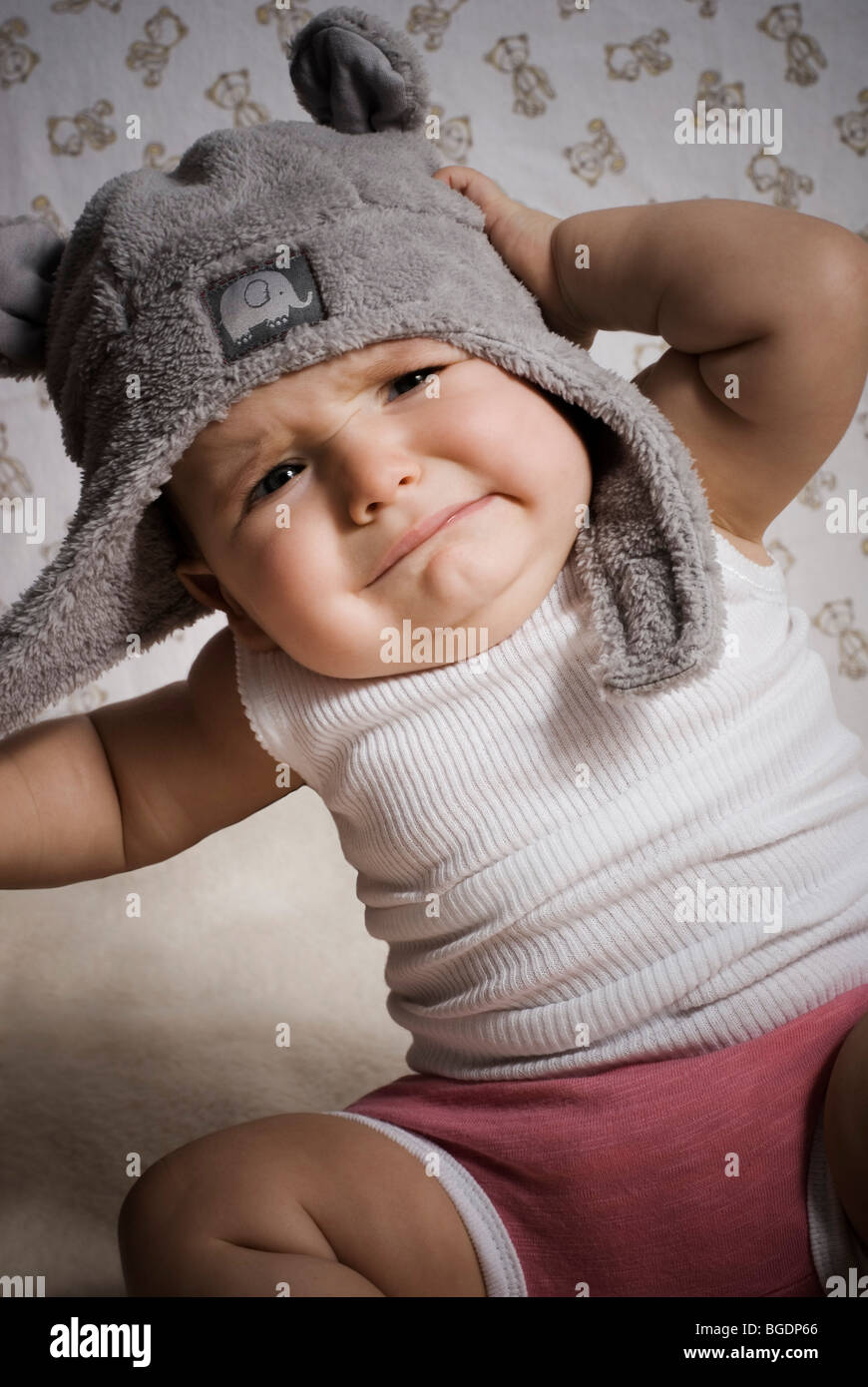 Upset baby - Stock Image