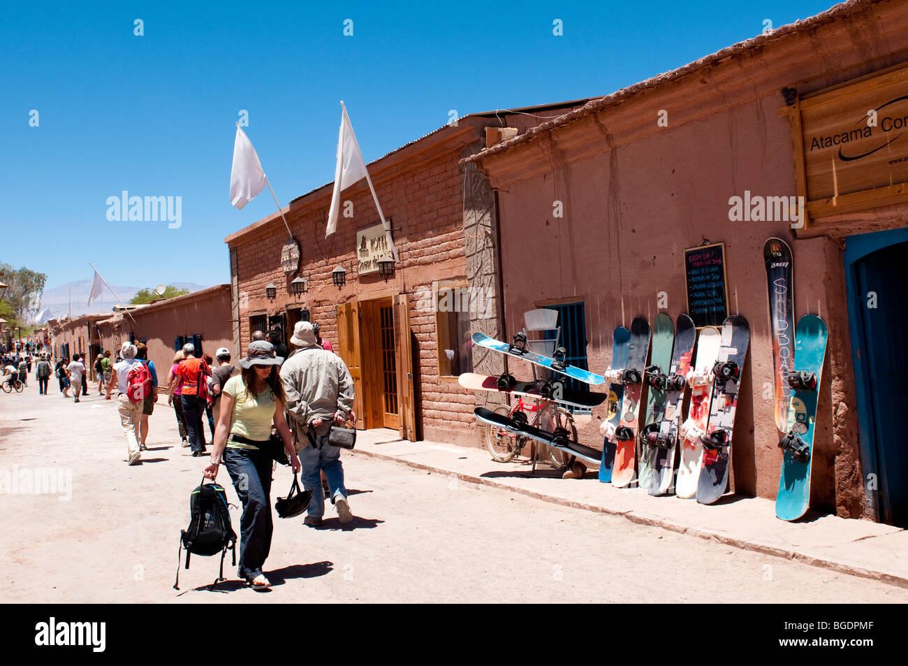 Caracoles Street In San Pedro de Atacama - Stock Image