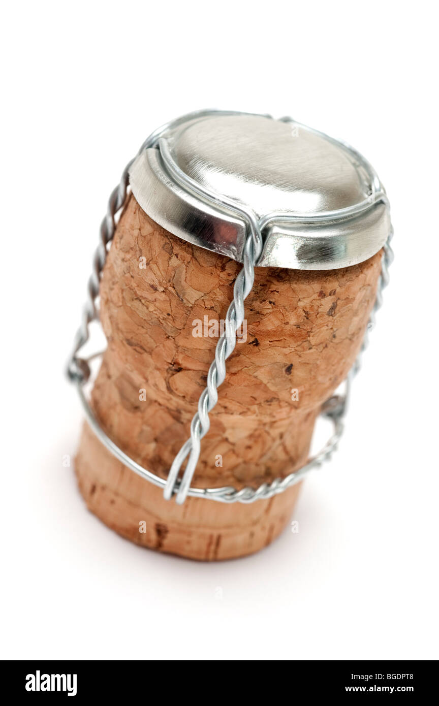 Wine Cork and wire - Stock Image