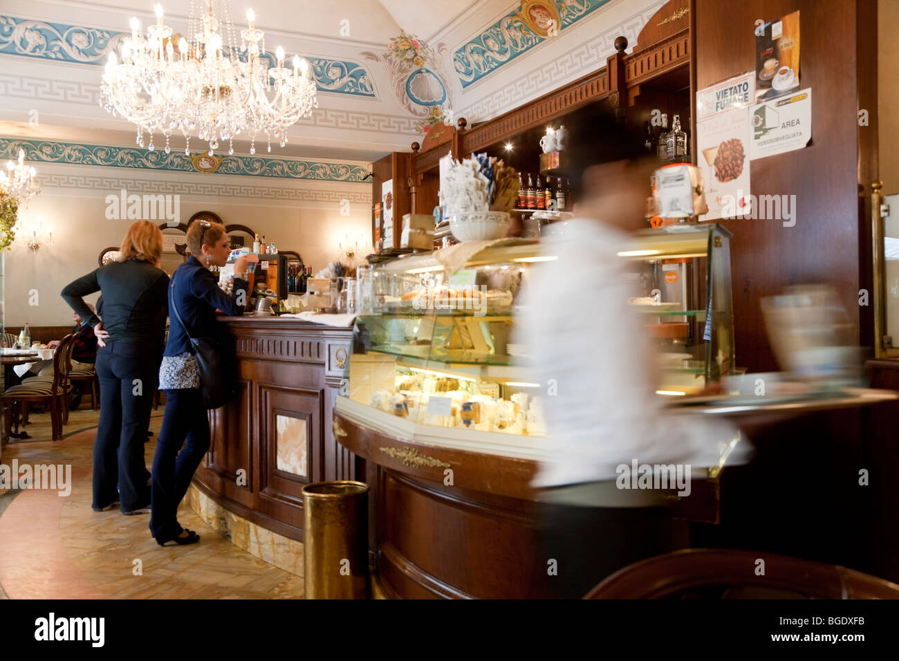 Cafe, Parma, Emilia Romagna, Italy - Stock Image