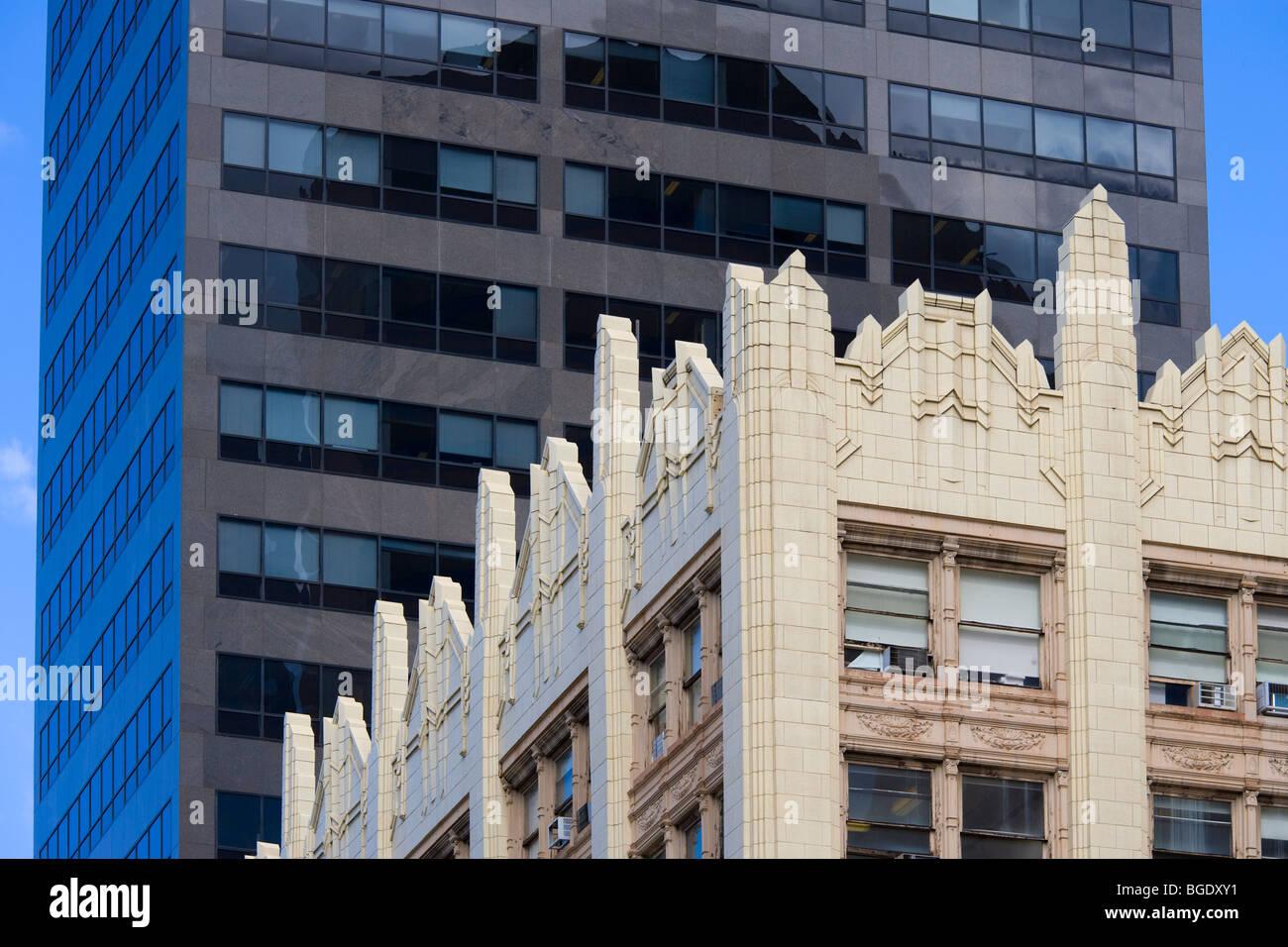Denver Colorado. Contrast between old and new Art Deco