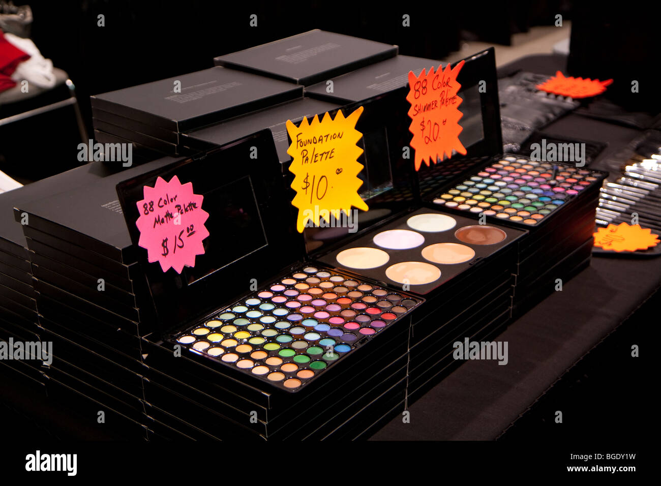 eyeshadow palette on sale women cosmetic makeup - Stock Image