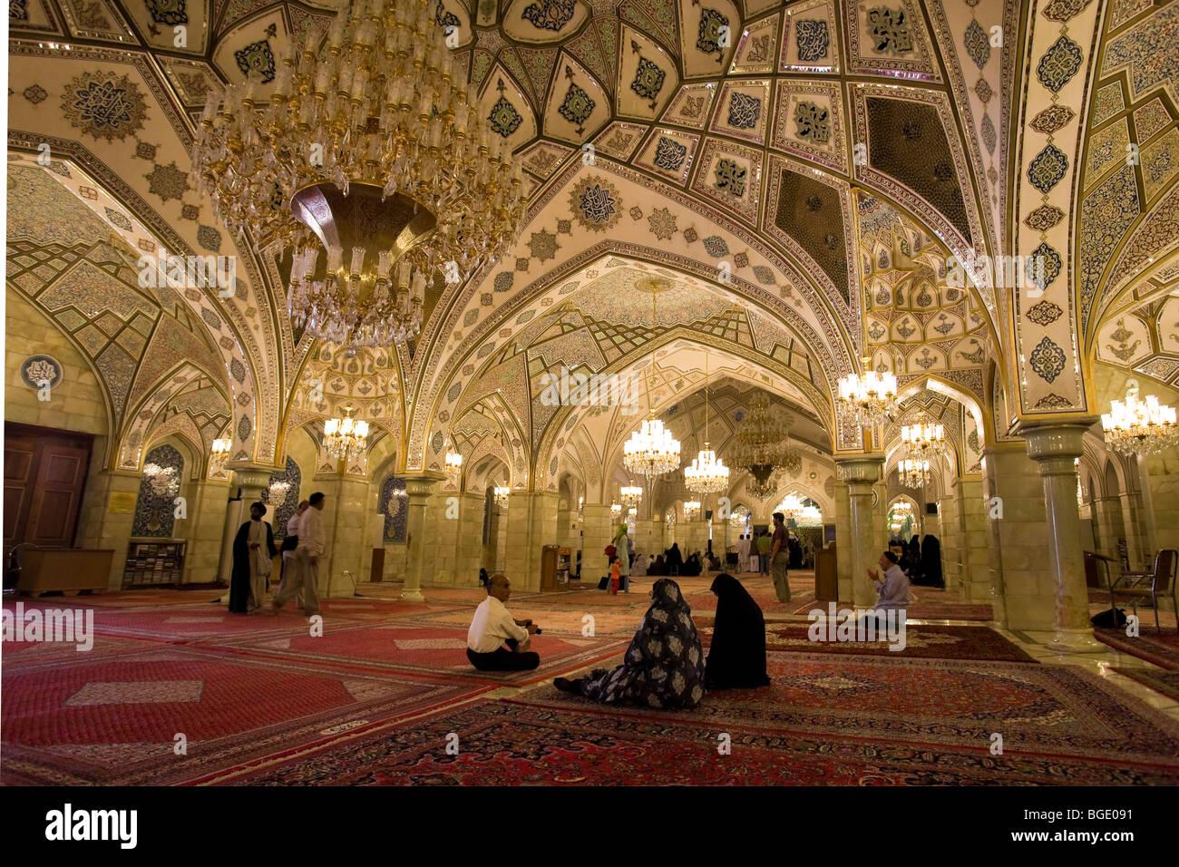 Syria Damascus Old Town Sayyida Ruqayya Mosque Prayer Hall And Stock Photo 27352445 Alamy